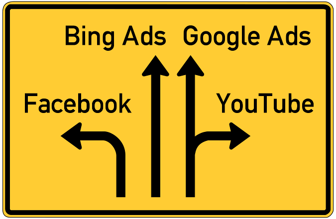 Google-Ads-Alternativen: YouTube, Facebook, Bing Ads